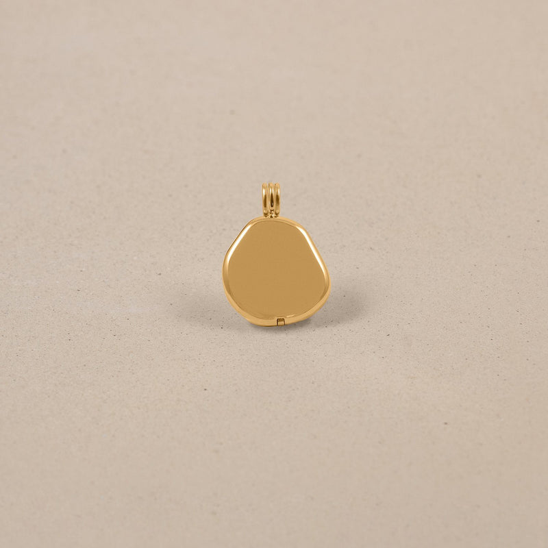 Organic Liquid Locket Anhänger Jewelry stilnest 24ct Gold Vermeil