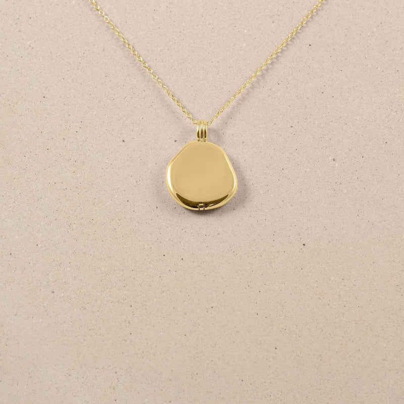 Organic Liquid Locket Kette 14k Massivgold Jewelry stilnest