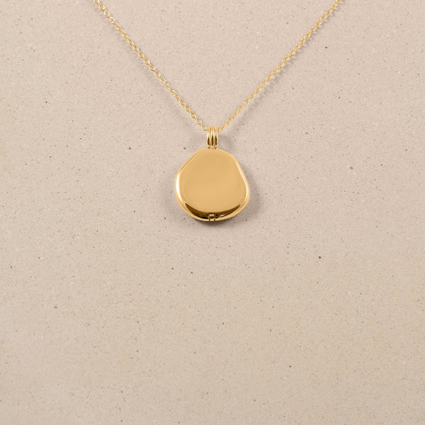 Organic Liquid Locket Kette Jewelry stilnest 24ct Gold Vermeil S (45cm)