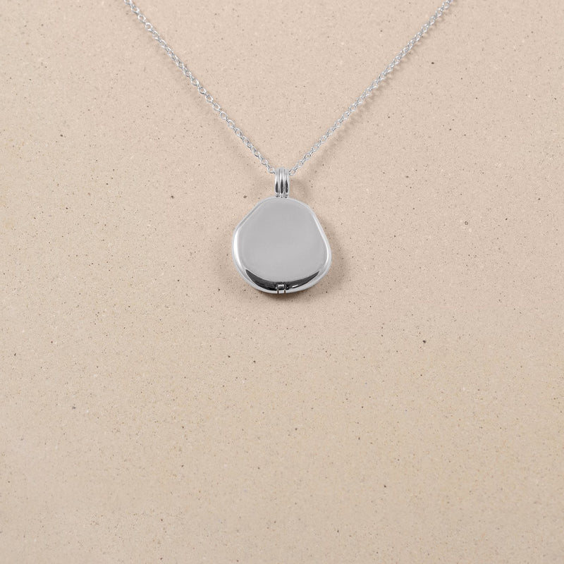 Organic Liquid Locket Kette Jewelry stilnest Rhodium Plated 925 Silver S (45cm)
