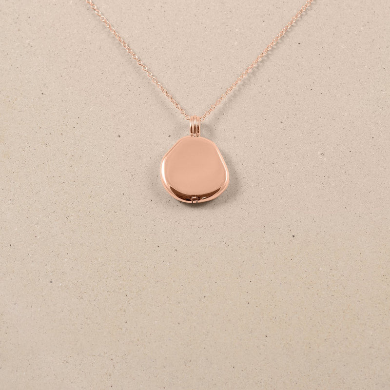 Organic Liquid Locket Kette Jewelry stilnest Rose Gold Vermeil S (45cm)