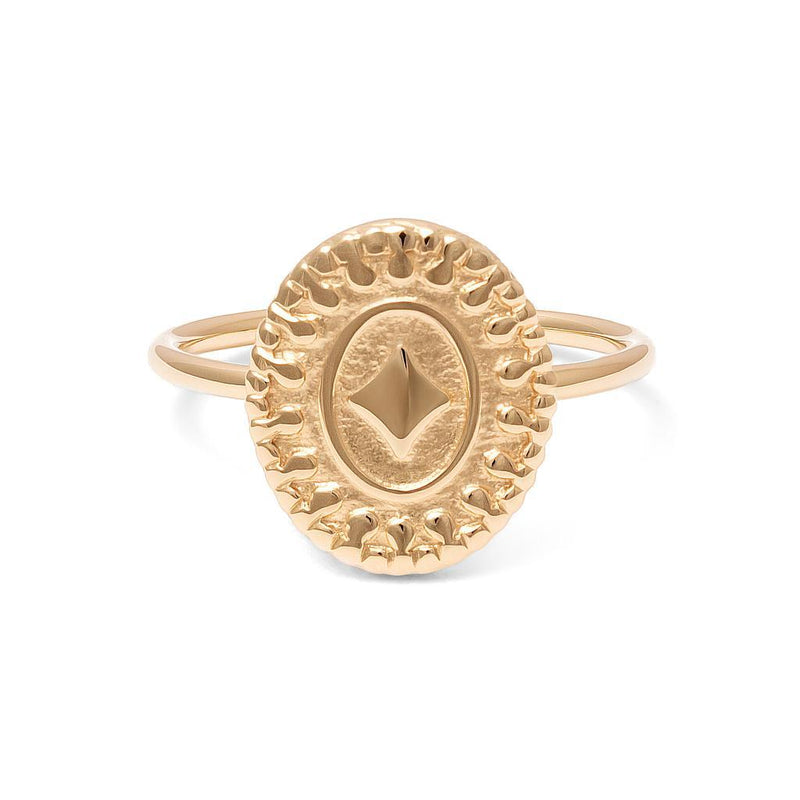 Origins Ring Jewelry nihan 925 Silver Gold Plated L - 60 (19.1mm)