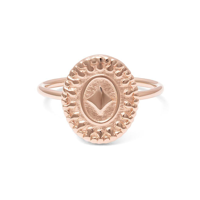 Origins Ring Jewelry nihan 925 Silver Rose Gold Plated L - 60 (19.1mm)
