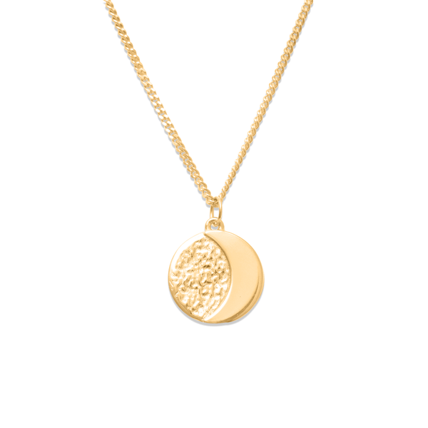 Ours Moon Phases Nr.2 Kette Jewelry ella-thebee 925 Silver Gold Plated