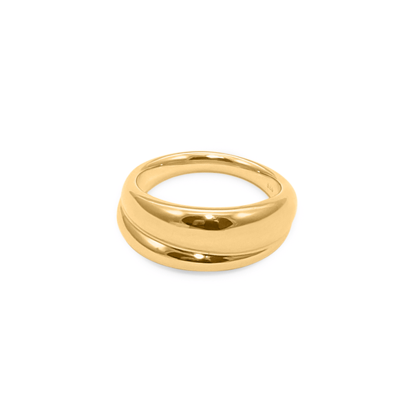 Paris Les Deux Ring Jewelry sammi-maria 24ct Gold Vermeil M - 56 (17.8mm)
