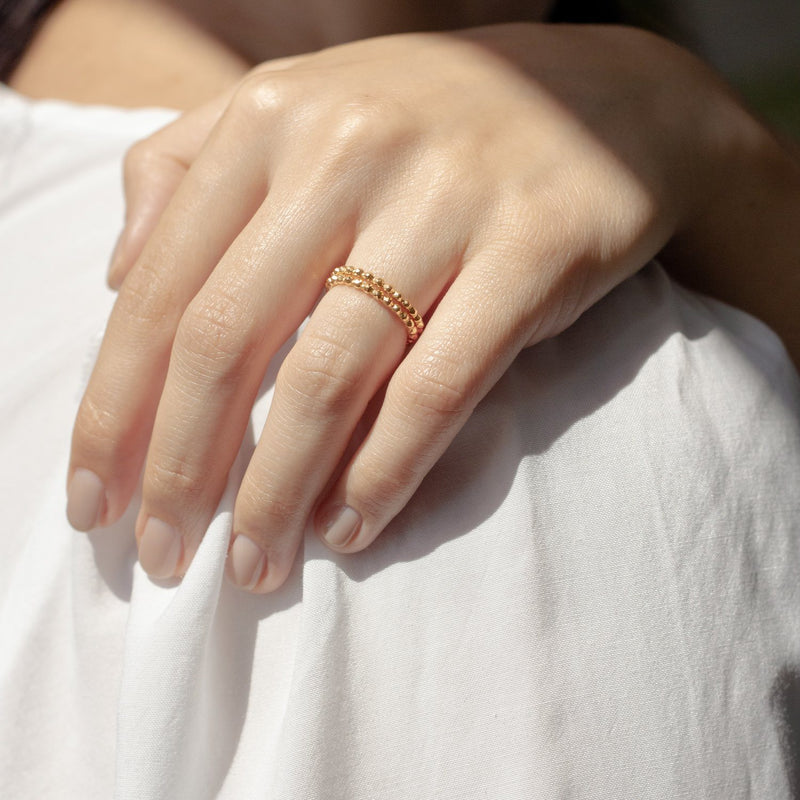 Party Stack Ring - Solid Gold Jewelry Stilnest
