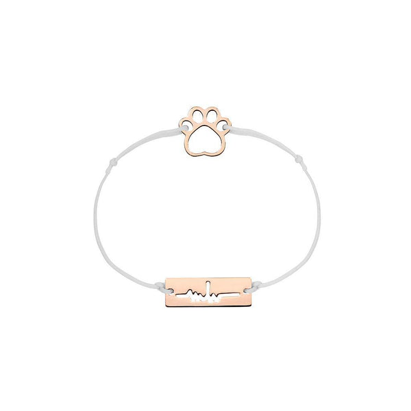 Paw Charm Jewelry marina-hoermanseder 925 Silver Rose Gold Plated Light Gray