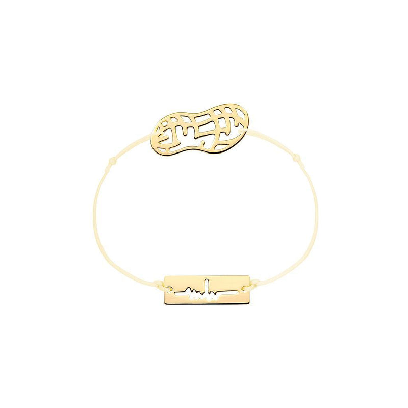 Peanut Charm Jewelry marina-hoermanseder 925 Silver Gold Plated Beige