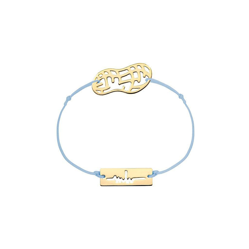 Peanut Charm Jewelry marina-hoermanseder 925 Silver Gold Plated Blue
