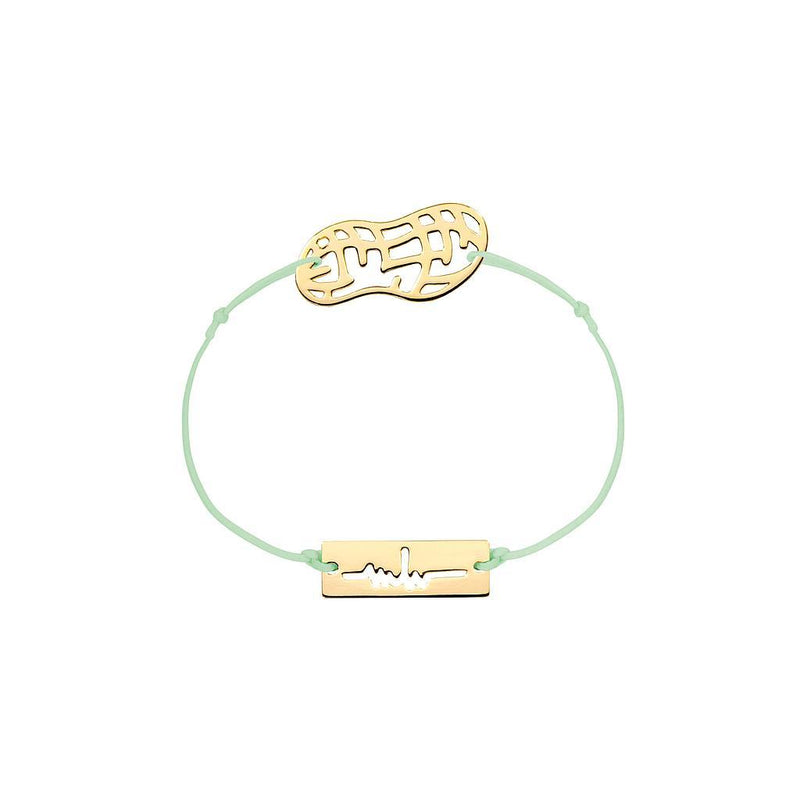 Peanut Charm Jewelry marina-hoermanseder 925 Silver Gold Plated Pale Green