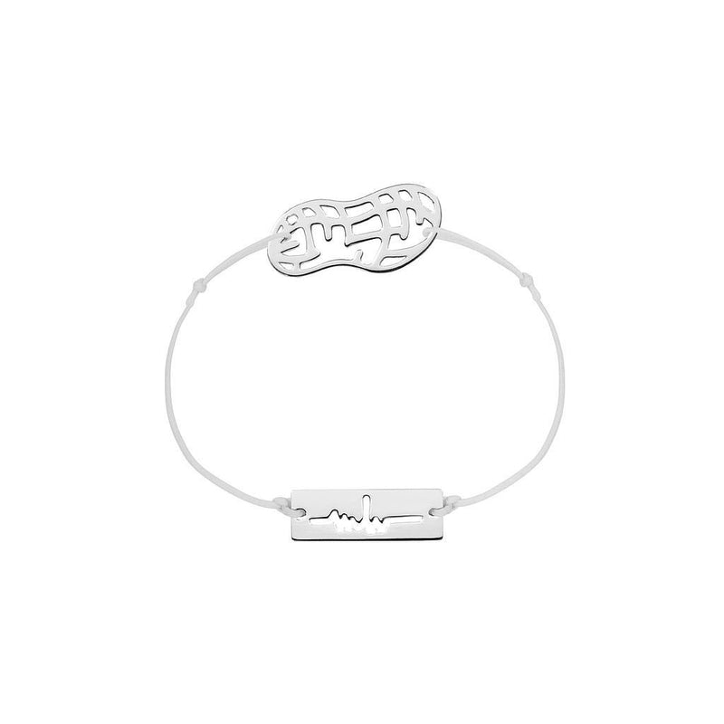 Peanut Charm Jewelry marina-hoermanseder 925 Silver Light Gray
