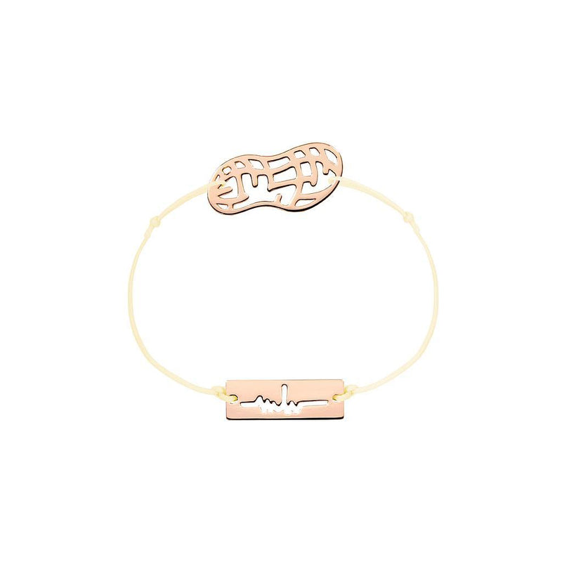 Peanut Charm Jewelry marina-hoermanseder 925 Silver Rose Gold Plated Beige