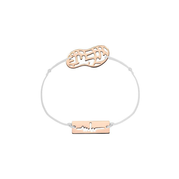 Peanut Charm Jewelry marina-hoermanseder 925 Silver Rose Gold Plated Light Gray