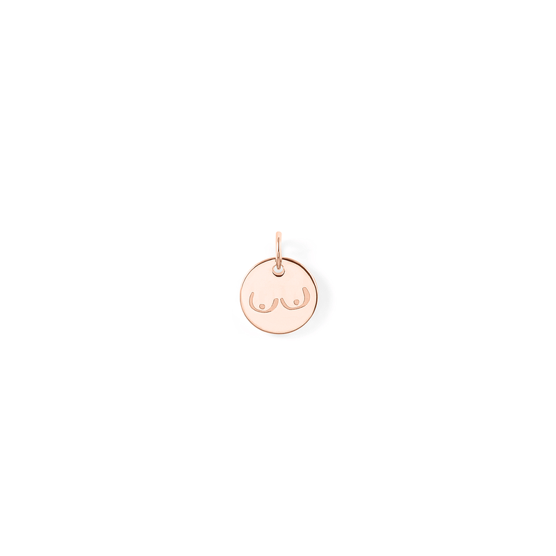 Petite Boobs Anhänger Jewelry frau-hoelle 925 Silver Rose Gold Plated