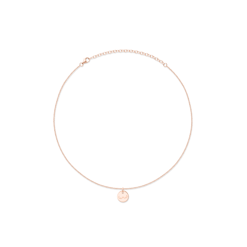 Petite Boobs Choker Jewelry frau-hoelle 925 Silver Rose Gold Plated