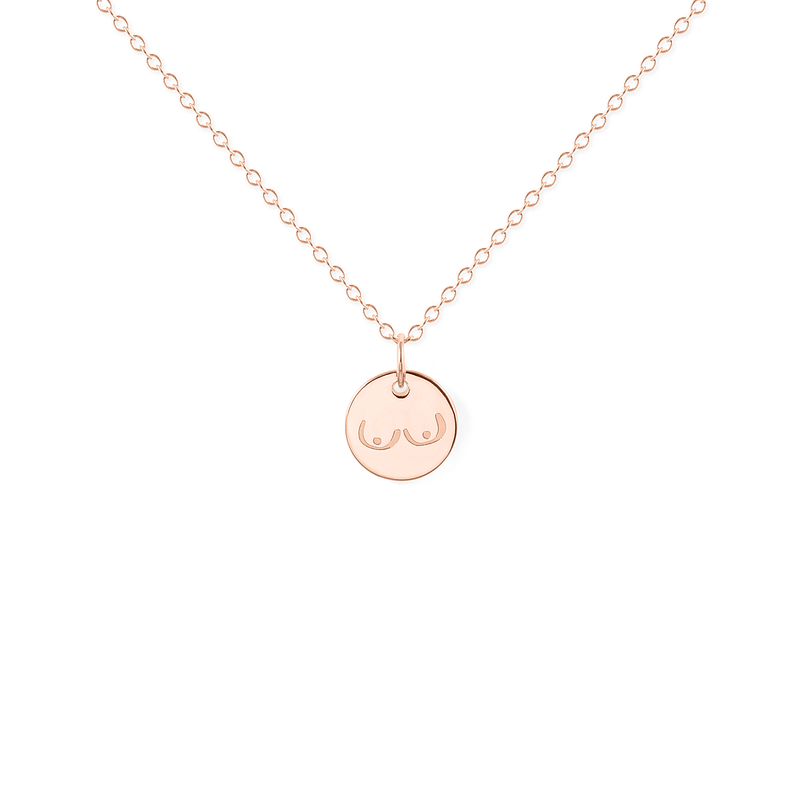 Petite Boobs Kette Jewelry frau-hoelle 925 Silver Rose Gold Plated S (45cm)