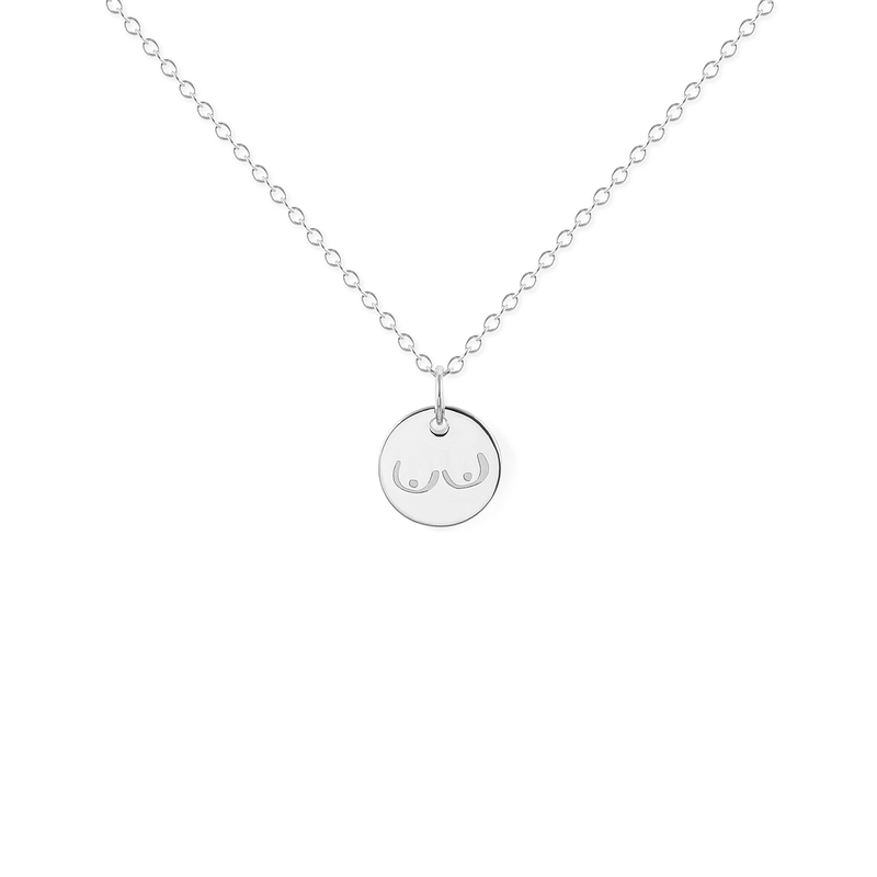 Petite Boobs Kette Jewelry frau-hoelle 925 Silver S (45cm)