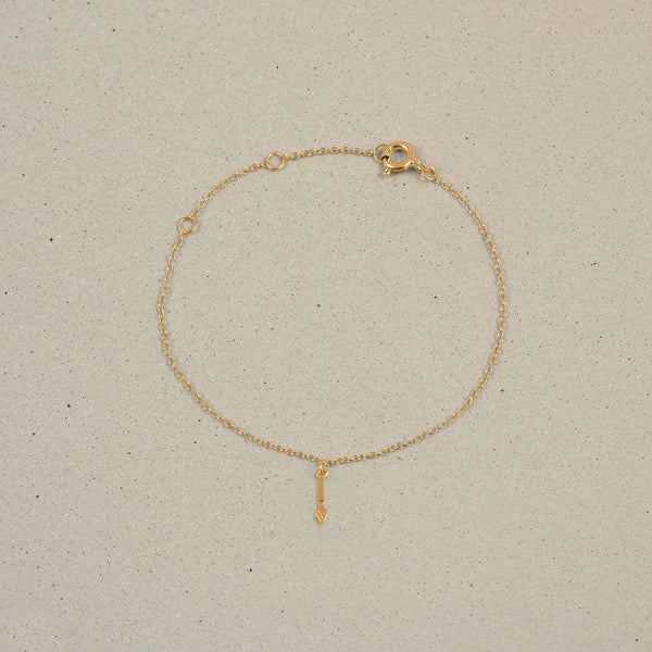 Petite Brush Charm Armband Jewelry frau-hoelle 24ct Gold Vermeil 19cm