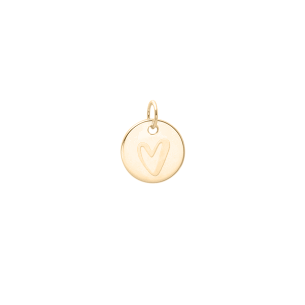 Petite Heart Anhänger - Solid Gold Jewelry frau-hoelle 14ct solid Gold