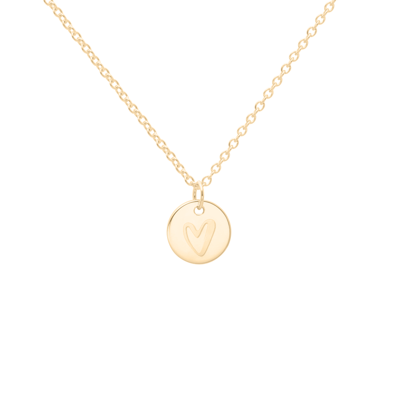 Petite Heart Kette - Solid Gold Jewelry frau-hoelle 14ct solid Gold S (45cm) Ankerkette