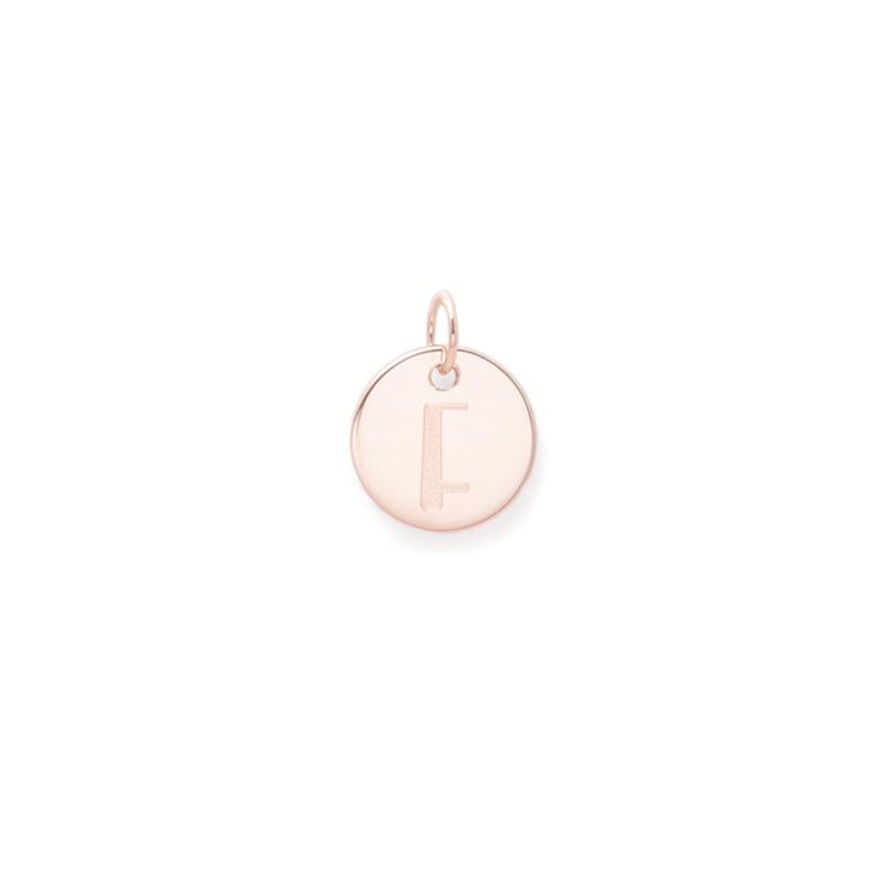 Petite Letter A - Z Anhänger - Rose Gold Vermeil Jewelry frau-hoelle Rose Gold Vermeil F