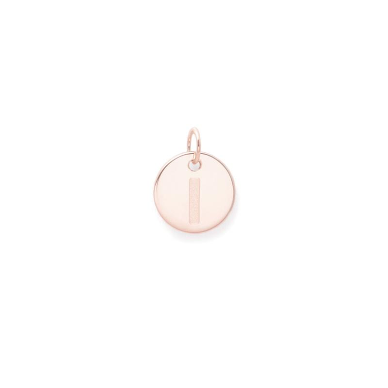 Petite Letter A - Z Anhänger - Rose Gold Vermeil Jewelry frau-hoelle Rose Gold Vermeil I