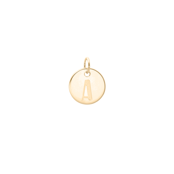 Petite Letter A-Z Anhänger - Solid Gold Jewelry frau-hoelle 14ct solid Gold A