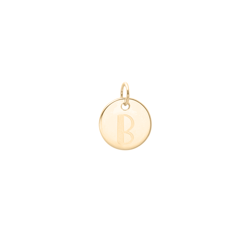Petite Letter A-Z Anhänger - Solid Gold Jewelry frau-hoelle 14ct solid Gold B