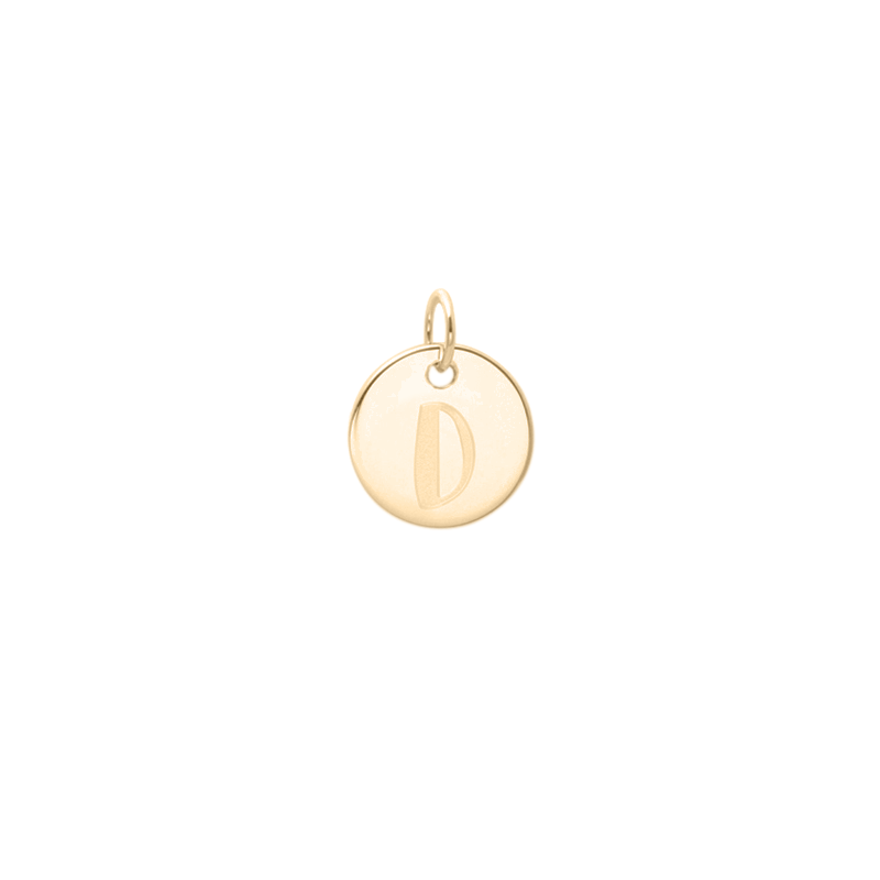 Petite Letter A-Z Anhänger - Solid Gold Jewelry frau-hoelle 14ct solid Gold D