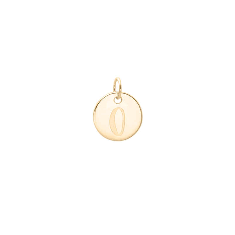 Petite Letter A-Z Anhänger - Solid Gold Jewelry frau-hoelle 14ct solid Gold O