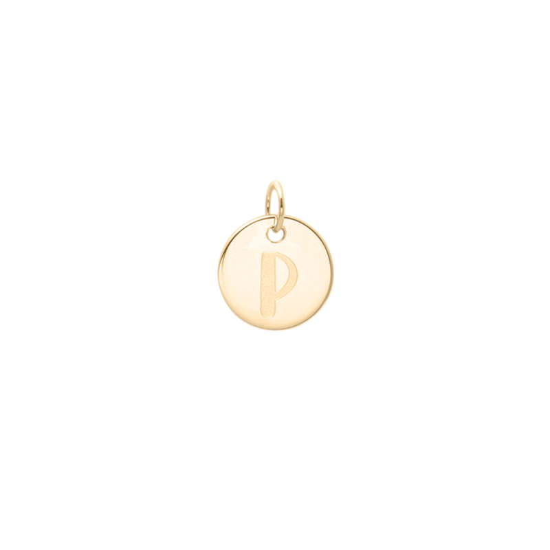 Petite Letter A-Z Anhänger - Solid Gold Jewelry frau-hoelle 14ct solid Gold P