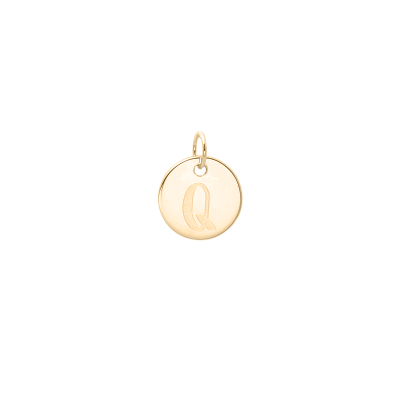 Petite Letter A-Z Anhänger - Solid Gold Jewelry frau-hoelle 14ct solid Gold Q