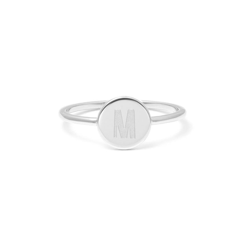 Petite Letter M Ring Jewelry frau-hoelle 925 Silver XS - 49 (15.6mm)