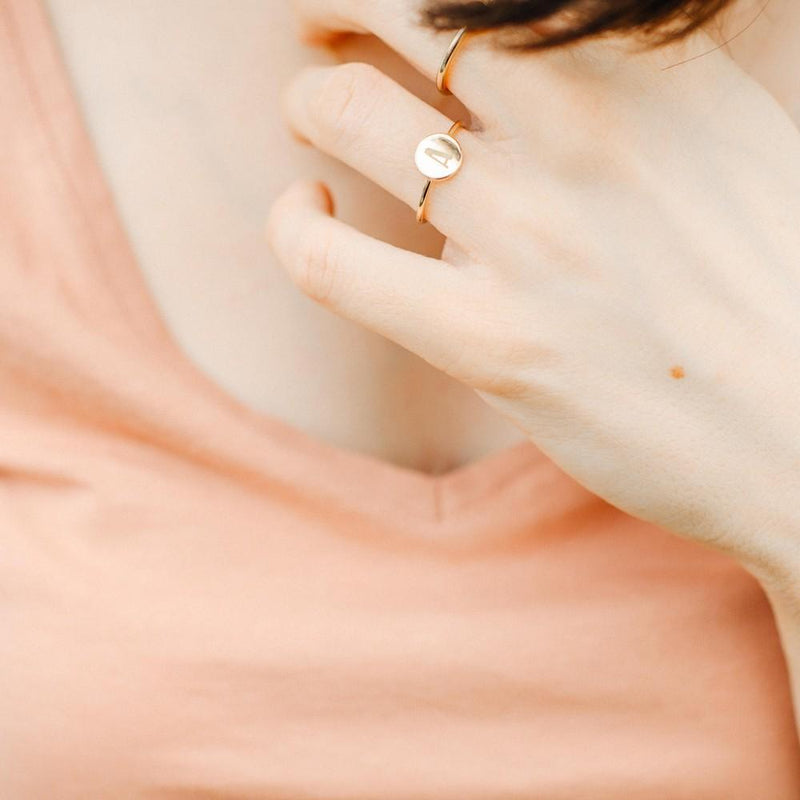 Petite Letter X Ring Jewelry frau-hoelle