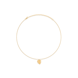 Petite Monstera Charm Choker Jewelry frau-hoelle 925 Silver Gold Plated