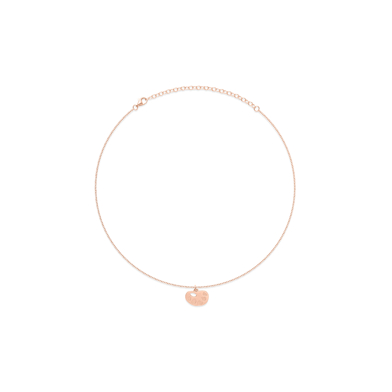 Petite Palette Charm Choker Jewelry frau-hoelle 925 Silver Rose Gold Plated