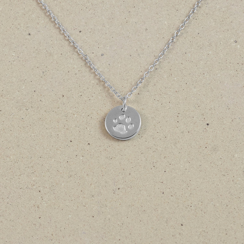 Petite Paw Charm Necklace Jewelry Stilnest 925 Silver Anchor Chain/Ankerkette S (45cm)
