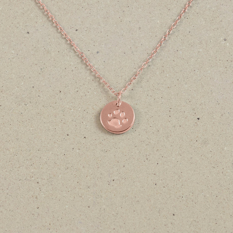 Petite Paw Charm Necklace Jewelry Stilnest Rose Gold Vermeil Anchor Chain/Ankerkette S (45cm)