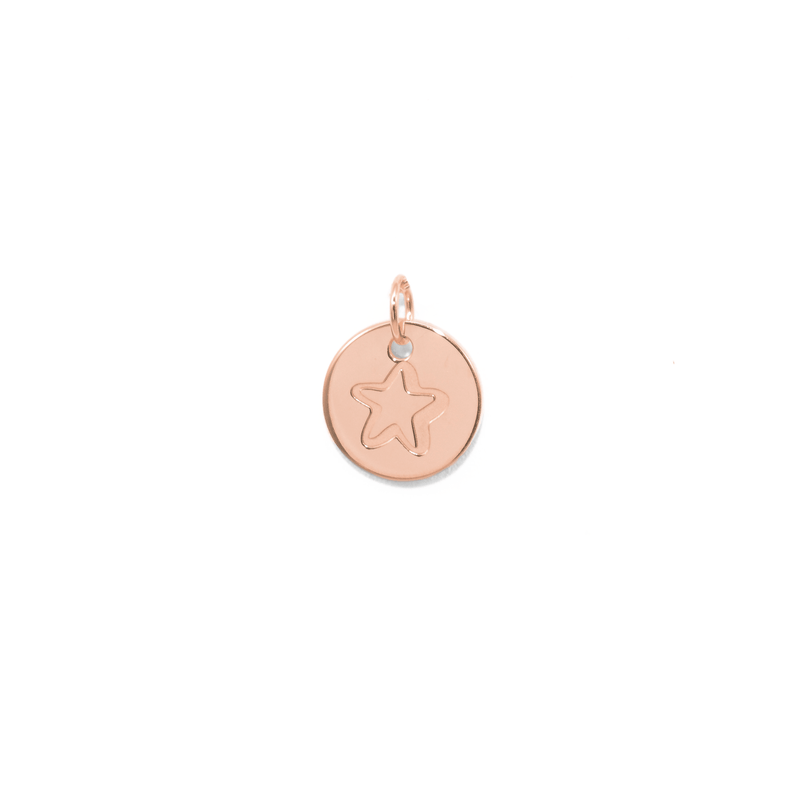 Petite Star Anhänger Jewelry frau-hoelle 925 Silver Rose Gold Plated