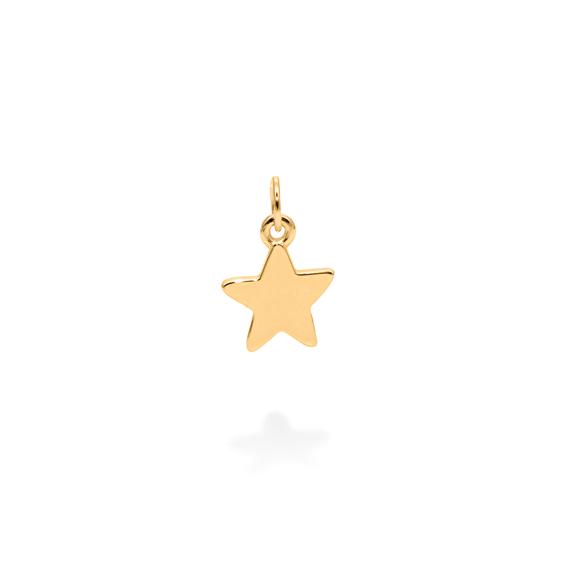 Petite Star Charm Anhänger Jewelry frau-hoelle 925 Silver Gold Plated