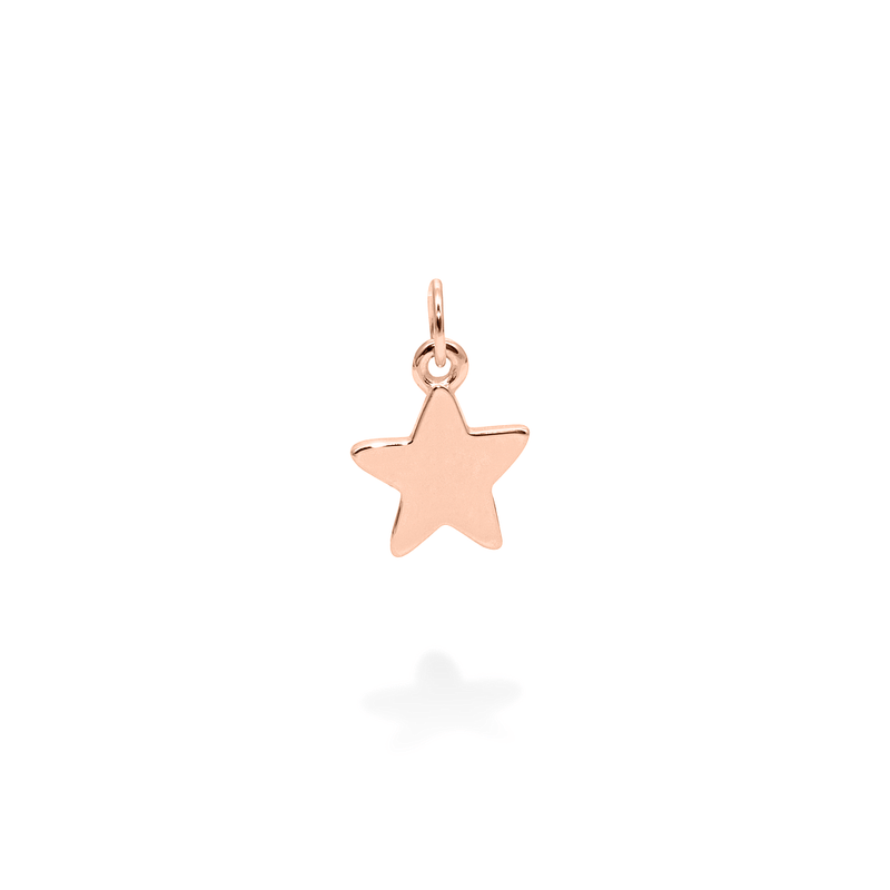 Petite Star Charm Anhänger Jewelry frau-hoelle 925 Silver Rose Gold Plated