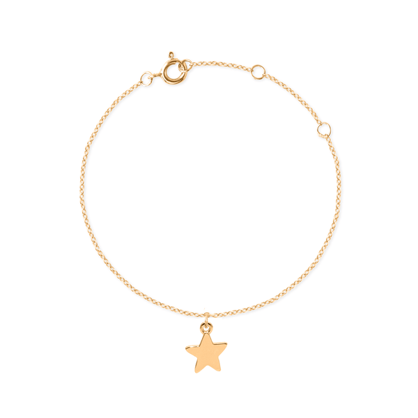 Petite Star Charm Bracelet Jewelry Stilnest 24ct Gold Vermeil