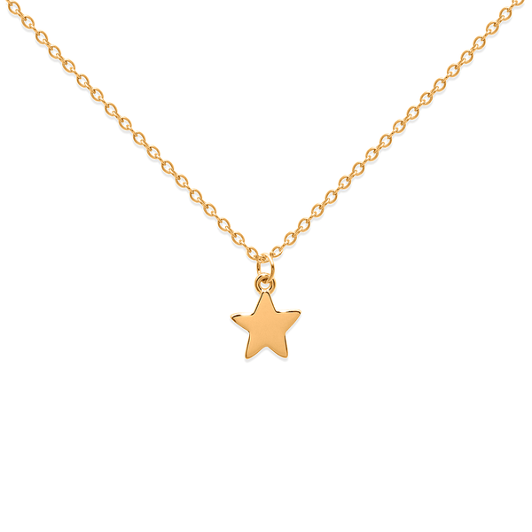 Petite Star Charm Kette Jewelry frau-hoelle 925 Silver Gold Plated S (45cm)