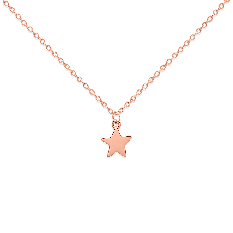 Petite Star Charm Kette Jewelry frau-hoelle 925 Silver Rose Gold Plated S (45cm)