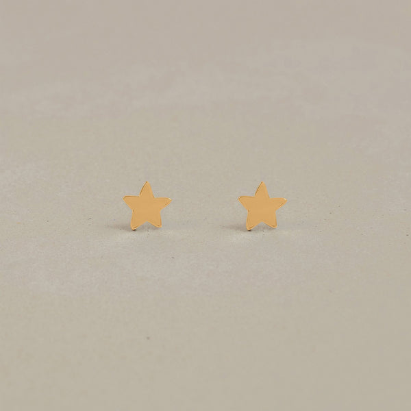 Petite Star Charm Stud Earrings Jewelry Stilnest 24ct Gold Vermeil