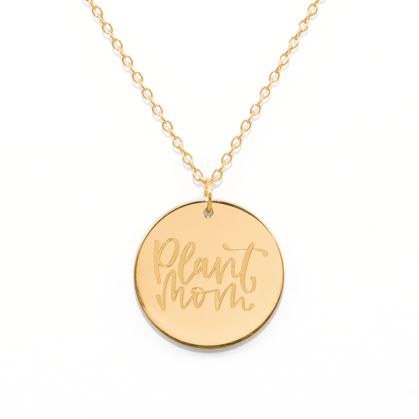 Plant Mom Kette #mommycollection Jewelry frau-hoelle 925 Silver Gold Plated S (45cm)