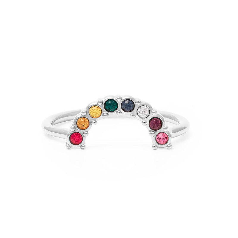 Pride Edition Ring Nr. 2 Jewelry stilnest Rhodium Plated 925 Silver XS - 49 (15.6mm)