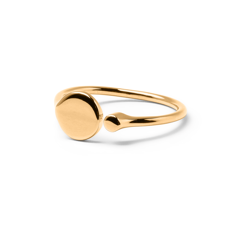 Pure Happiness Ring Jewelry stefanie-giesinger 925 Silver Gold Plated S - 52 (16.6mm)