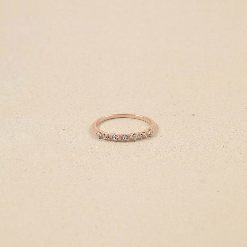 Rainbow Delight Ring Nr.1 Jewelry Stilnest Rose Gold Vermeil XS - 49 (15.6mm) Kristall