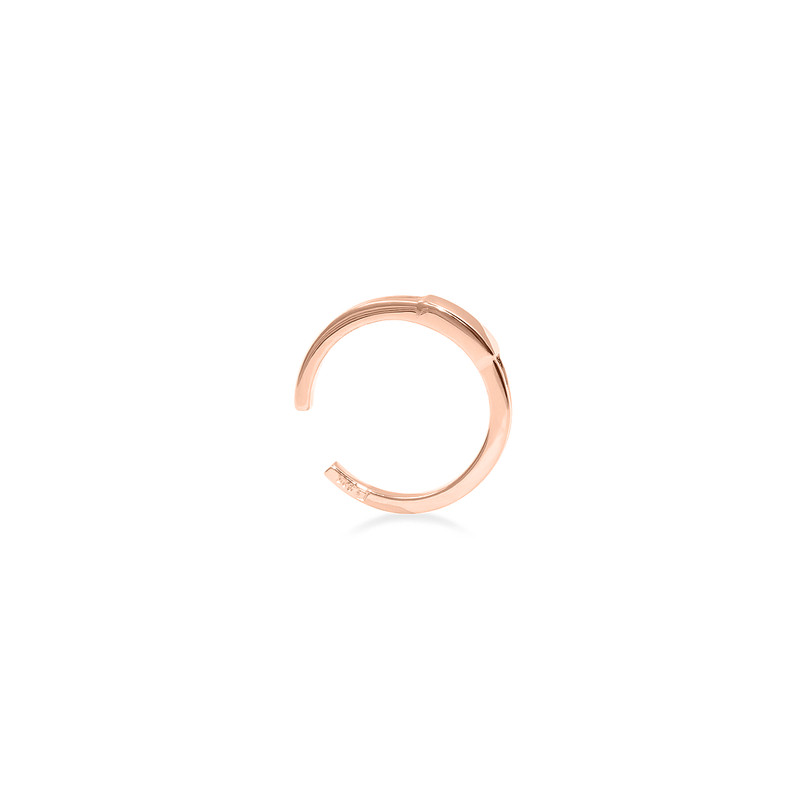 Retro Ear Cuff Jewelry stilnest Rose Gold Vermeil